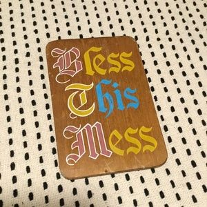 """Vintage Small """"Bless This Mess"""" Sign"""